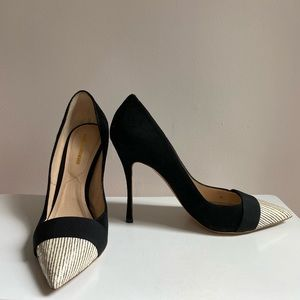 NICHOLAS KIRKWOOD Black White Suede heels 37 US 7